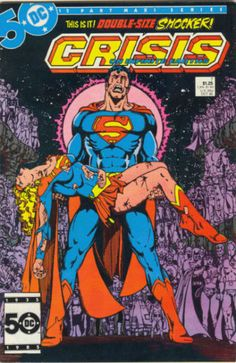 CRISIS ON INFINITE EARTHS # 7...1985. DC COMICS. WRITER: Marv Wolfman, Robert Greenberg. ARTIST: George Perez. COVER PRICE: $1.25. CHARACTERS: Superman, Supergirl, Captain Marvel (Shazam), Batman, Wonder Woman. And Everyone else). NOW PRICE: $30.00. CONDITION: Near Mint.