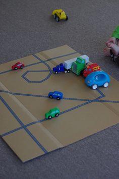 cardboard- make roads