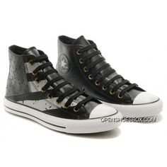 cb53188af703 Black Grey Leather Converse American Flag USA High Chucks All Star Sneakers  Cheap To Buy