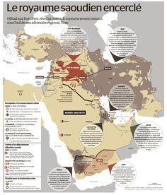 Le royaume d'Arabie saoudite cerné - Le Monde - France This is Visual Journalism [100] | Visualoop