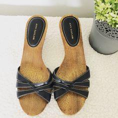 Ann Taylor Wood Sandals Size 8. Worn once. Ann Taylor Shoes Sandals