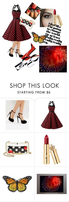 """#party in red ♥♥"" by robydeea ❤ liked on Polyvore featuring ASOS and RED Valentino"