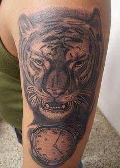 #Tigre #Reloj #tattoo