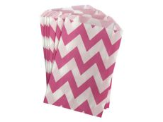 Pink Chevron Party Bags - Pink Frosting Party Supplies