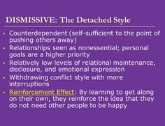 Dismissive avoidant attachment in adults