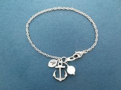 Silver Anchor Marine Bracelet by Gliget on Etsy, $18.80