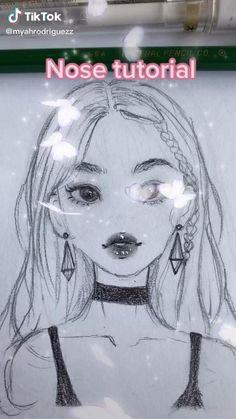 Sketchbook Drawings, Art Drawings Sketches Simple, Pencil Art Drawings, Cute Drawings, Drawing Tips, Sketches Tutorial, Cartoon Art, Art Tutorials, Cute Art