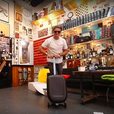 Casey Neistat takes the Suitsupply race case for a ride around his studio. Casey Neistat, Spring Summer 2016, Suits, Studio, Shopping, Women, Fashion, Moda, Fashion Styles