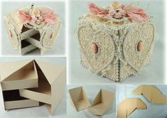DIY Cute Box Diy Craft Projects, Diy And Crafts Sewing, Crafts For Girls, Craft Tutorials, Easy Crafts, Easy Diy, Diy Y Manualidades, Cute Box, Do It Yourself Crafts