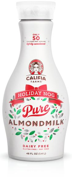 Holiday Nog Almond style- they'd better have this still when I get back to the States!