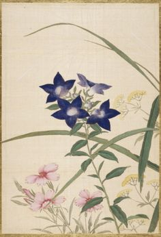 Silk painting by Okamoto Shūki (Japan, 1807-1862) from an album of pictures of…