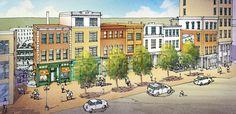 Mixed Use Infill Development Concept   TPUDC   Town Planning & Urban Design Collaborative