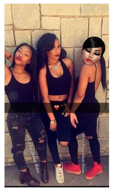 """Miya:Second Look with my girls from Atlanta 🖤 Don't Save"" by latoyajanaealsina ❤ liked on Polyvore"