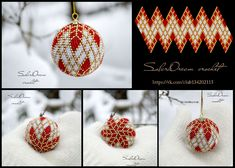 Discover recipes, home ideas, style inspiration and other ideas to try. Seed Bead Art, Seed Bead Crafts, Seed Bead Jewelry, Seed Beads, Bead Crochet Patterns, Peyote Patterns, Beading Patterns, Beaded Christmas Ornaments, Christmas Crafts