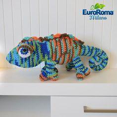 Amigurumi Camaleão de Crochê - Barbante EuroRoma Milano - Blog do Bazar  Horizonte - Maior Armarinho 994b2bb02a1