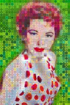 "Saatchi Art Artist John Lijo Bluefish; Collage, ""The Woman in White"" #art"