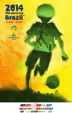 Starting on June 12th Cartaz da Copa do Mundo 2014 by Thiago Duarte, via Behance
