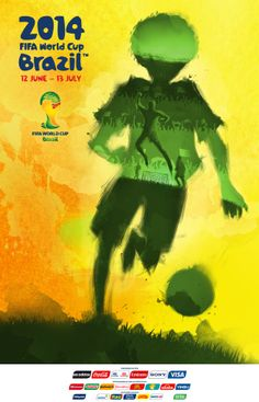 Cartaz da Copa do Mundo 2014 by Thiago Duarte, via Behance