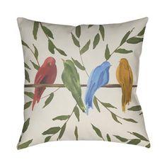 Parade Bird Polyester Throw Pillow