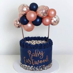 Creative Balloon Cake Topper Set Birthday Party Decoration Cake… – Famous Last Words Blue Birthday Cakes, Beautiful Birthday Cakes, Birthday Cake Toppers, Baby Shower Cake Toppers, Baby Cake Topper, Balloon Birthday, Shower Cakes, Birthday Cake Decorating, Cake Decorating Supplies