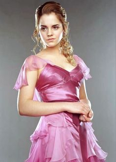 Oh I remember the Yule Ball so well! The Muggles who made the movie know that the dress was blue, right??