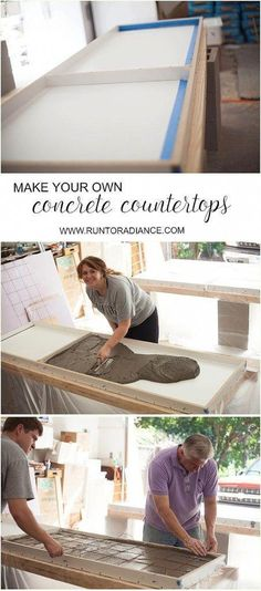 DIY concrete countertops from start to finish! This tutorial shows you exactly h - decoration ideas - DIY concrete countertops from start to finish! This tutorial shows you exactly h -