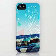 Let's Sail Away iPhone Case by Leah Flores - $35.00