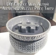 Frugal Mom and Wife: DIY Candle Wax Autism Awareness Puzzle Piece Tarts! Ways} Diy Candles, Candle Wax, Scented Wax, Scented Candles, Wax Tarts, Diy Recycle, Autism Awareness, Puzzle Pieces, Frugal