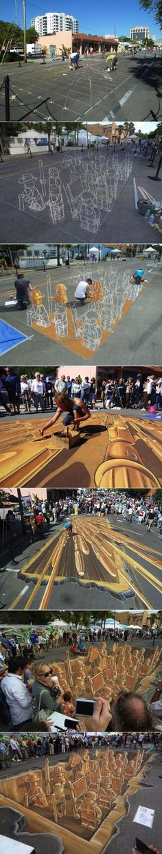 Die Lego-Armee - 3D Street Art Win Bild