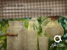 ¿Sabías que utilizamos la leche de los caserios de la zona en crudo y la pasteurizamos nosotros mismos en la empresa? #Ameztoi