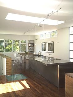 Contemporary Kitchen - Found on Zillow Digs Kitchen Cabinets For Sale, Kitchen Lighting, Kitchen Decor, Home Improvement, Sweet Home, Lights, Contemporary, Future, Design