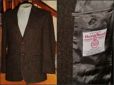 Wool HARRIS TWEED Sport Coat 40 S NEW Old by VoraciouslyVintage