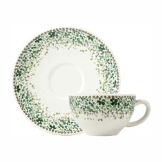 Gien - 'Songe' Collection - Coffee/Tea Cups/Saucers, s/2