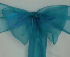 """60pcs 7""""*108""""new teal sparkle organza chair sashes wedding party banquet decoration teal wedding decorations US $29.56"""