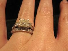 CT Radiant Center Stone in Beautiful Ritani Setting (Wedding band not included at this price) Radiant Engagement Rings, Wedding Bands, Heart Ring, Crystals, Stone, Diamond, Beautiful, Jewelry, Rock