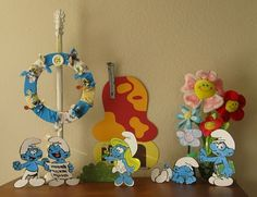 The Paper Pony: Smurfday Party- part 1- Decorations