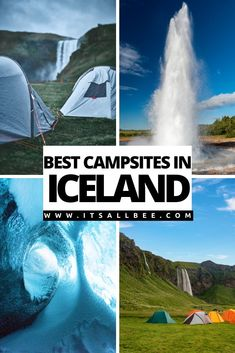 There are many great places to camp in Iceland. Click for a complete guide with an epic Iceland camping list of all the best campsites in Iceland. If you're planning an Iceland tent or campervan itinerary. #itsallbee #traveltips #icelandcamping #iceland #icelandtravel | Camping Grounds | Iceland Campsites | Top 10 Iceland Campsites – The Best Spots For Camping In Iceland | Iceland Camping | Iceland Camping Packing List | Iceland Camping Sites | Iceland Camping Card |  Iceland Camping…