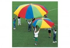 If you want to encourage cooperative non-competitive play while reinforcing taking turns and sharing then the Kids Parachute is for you. A parachute is the perfect addition to any play area camp s Sports Activities For Kids, Group Activities, Kids Sports, Physical Activities, Physical Education, Games For Kids, Parachute Games, Physical Fitness Program, Gross Motor Skills