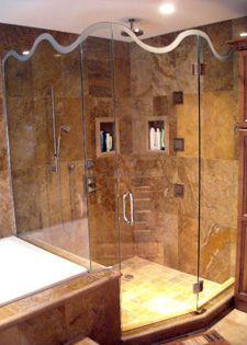 GLASS SHOWER DOOR - FRAMELESS SHOWER ENCLOSURES FOR THE HOME OR HOTEL