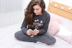Angi Alzar representing sweet pyjama