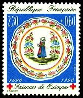 This week some beautiful postage stamps with traditional costumes of Brittany / Bretagne. The first one above is a French Red Cross stamp . Quimper Pottery, Red Cross, Vintage Ads, Vintage Patterns, Postage Stamps, Brittany, Decorative Plates, Traditional, Costumes