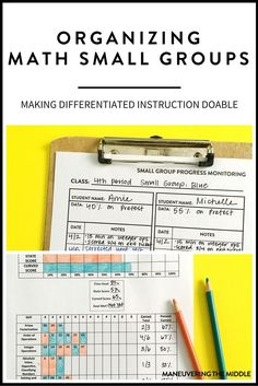 Differentiating for your students doesn't have to be complicated.  Tips for how to organize math intervention in way that is both simple and effective.  | http://maneuveringthemiddle.com