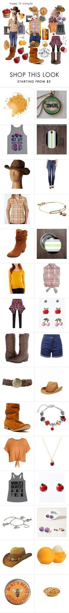 """🍎HONESTY🍎"" by the-problematicfave ❤ liked on Polyvore featuring San Diego Hat Co., St. John's Bay, Roar, Alex and Ani, Charlotte Russe, Miss Selfridge, Madden Girl, Forever 21, Qupid and New Look"