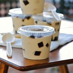 Espresso pudding and coffee jelly cubes recipe Jelly Desserts, Pudding Desserts, Asian Desserts, Jello Recipes, Dessert Recipes, Appetizer Recipes, Mousse, Food Business Ideas, Coffee Dessert