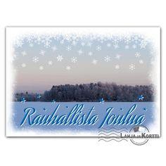 Joulukortti - Rauhallista joulua talvimaisemassa