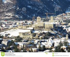 Photo about Amazing view of the castle. Image of amazing, canton, castelgrande - 107591057 Canton Ticino, All Pictures, Paris Skyline, Castle, Snow, Landscape, Day, Switzerland, Amazing