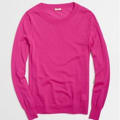 J. Crew FACTORY Sawyer sweater (maroon) Great condition, maroon color (not pink- updated photos coming soon). Sold out color. J. Crew Sweaters Crew & Scoop Necks