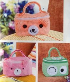 Cute Animal Bag Crochet ⋆ Crochet Kingdom