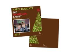 OUR HOLIDAY CARD 2012 holiday 2013 -premium cardstock -confetti cutouts -square
