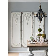 Awesome modern french country decor are available on our website. Check it out and you wont be sorry you did. French Country Wall Decor, French Country Decorating, Decor, White Dining Table, Decorative Wall Panels, Wood Floor Pattern, Wall Decor, French Decor, Wall Paneling